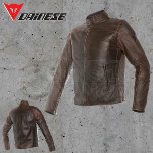Giubbotto Pelle Dainese Mike Leather Jacket Testa di Moro