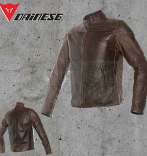 Giubbotto Pelle Dainese Mike Leather Jacket Testa di Moro