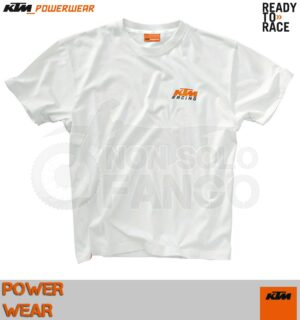 Maglietta T-shirt KTM Power Wear RACING WHITE TEE