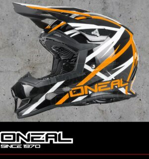 Casco Moto Off-Road 2Series EVO THUNDERSTRUCK black/white/orange