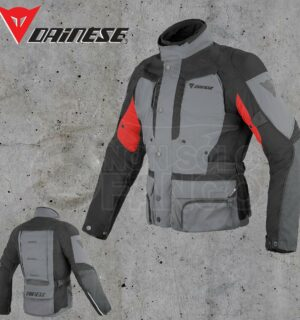 Giubbotto Dainese D-Stormer D-Dry Castle-Rock/Nero/Rosso