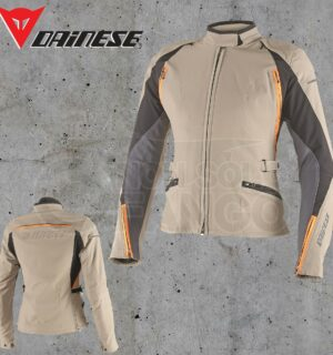 Giubbotto Dainese Arya D-Dry Lady Warm-Sand/Ebony/Sun-Orange