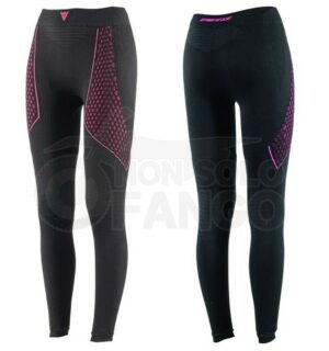 Sottopantaloni moto lunghi Dainese D-CORE THERMO PANT LL LADY Nero/Fuxia