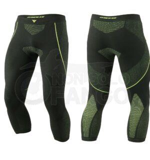 Sottopantaloni moto a tre quarti D-CORE DRY PANT ¾ Nero/Giallo-Fluo