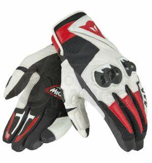 Guanti moto Mig C2 Gloves Nero/Bianco/Rosso-Lava