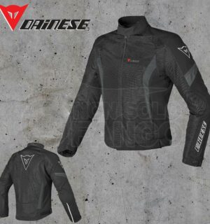 Giubbotto Dainese Air Crono Tex Nero/Nero/Dark-Gull-Gray