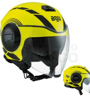 Casco moto Jet FLUID E2205 Multi Equalizer Yellow Fluo/Black
