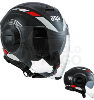 Casco moto Jet FLUID E2205 Multi Equalizer Black/Grey