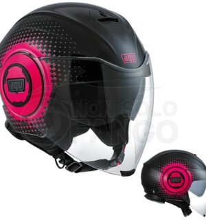 Casco moto Jet FLUID E2205 Multi Pix Black/Fuxia