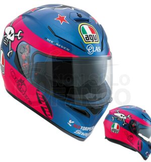 Casco moto Integrale K-3 SV E2205 Replica – Guy Martin Pink/Blue