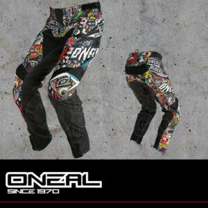 Pantaloni Moto Off-Road O'Neal MAYHEM LITE Pants CRANK black/multi