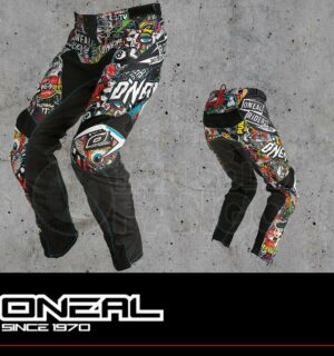Pantaloni Moto Off-Road O'Neal MAYHEM LITE Pants CRANK black/multi