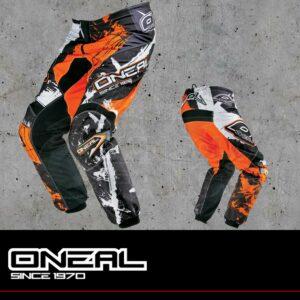 Pantaloni Moto Off-Road O'Neal ELEMENT Pants SHOCKER Black/Orange