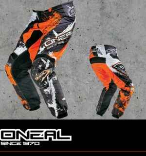 Pantaloni Moto Off-Road O'Neal ELEMENT Pants SHOCKER Black/Orange