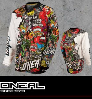 Maglia Off-Road O'neal MAYHEM LITE Jersey CRANK black/multi