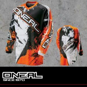 Maglia Off-Road O'neal ELEMENT Jersey SHOCKER black/orange