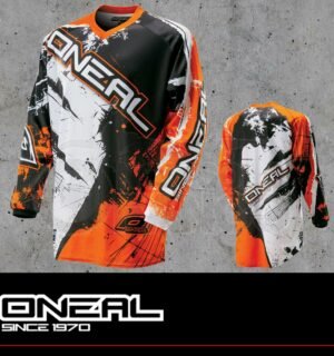 Maglia Off-Road O'neal ELEMENT Jersey SHOCKER black/orange