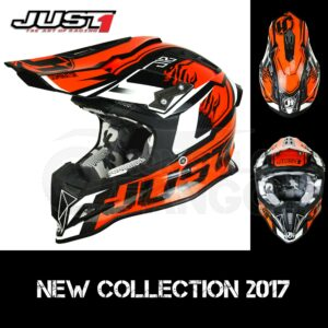 Casco Moto Off Road Just 1 – J12 Dominator Orange