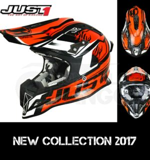 Casco Moto Off Road Just 1 – J12 Dominator Orange