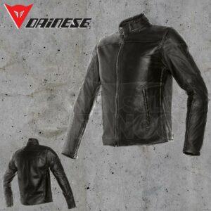 Giubbotto Pelle Dainese Mike Leather Jacket Nero