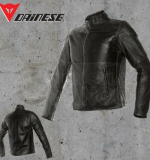 Giubbotto Pelle Dainese Mike Leather Jacket Nero