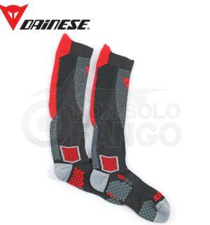 Calze tecniche D-CORE HIGH SOCK Nero/Rosso
