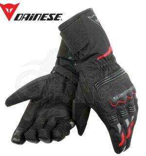 Guanti moto Tempest Unisex D-Dry Long Gloves Nero/Rosso