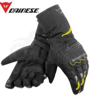 Guanti moto Tempest Unisex D-Dry Long Gloves Nero/Giallo-Fluo