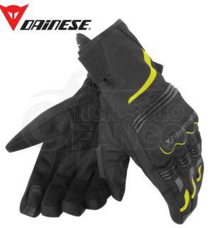Guanti moto Tempest Unisex D-Dry Short Gloves Nero/Giallo-Fluo