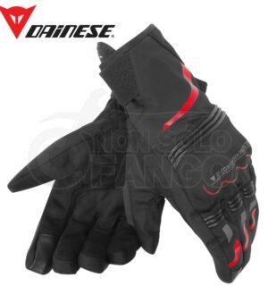 Guanti moto Tempest Unisex D-Dry Short Gloves Nero/Rosso