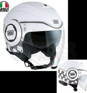 Casco moto Jet FLUID E2205 Multi GARDA White / Italy