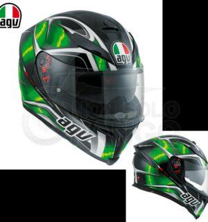 Casco moto Integrale K-5 S E2205 MULTI HURRICANE Black/Green/Bianco
