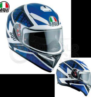 Casco moto Integrale K-3 SV E2205 MULTI PULSE  White/Black/Blue