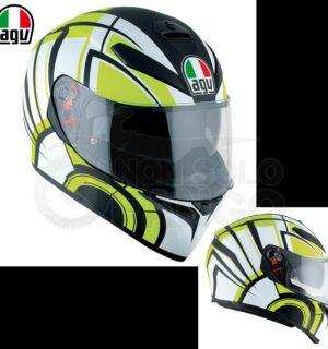 Casco moto Integrale K-3 SV E2205 MULTI AVIOR Matt White/Lime