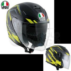 Casco moto K-5 JET E2205 MULTI URBAN HUNTER Matt Black/Yellow
