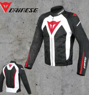 Giubbotto Dainese Hyper Flux D-Dry Bianco/Nero/Rosso