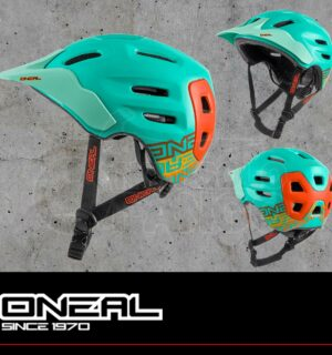 Casco MTB O'neal Defender Helmet FLAT mint/orange