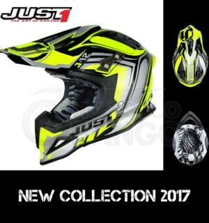 Casco Moto Off Road Just 1 – J12 Flame Yellow Black