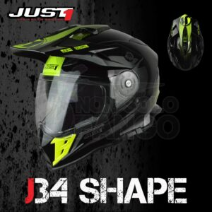 Casco Moto Off Road Just 1 – J34 Shape Neon Yellow