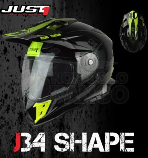 Casco Moto Off Road Just 1 – J34 Shape Neon Yellow