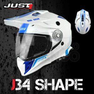 Casco Moto Off Road Just 1 – J34 Shape Neon Blue