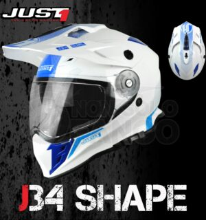 Casco Moto Off Road Just 1 – J34 Shape Neon Blue