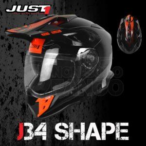 Casco Moto Off Road Just 1 – J34 Shape Neon Red
