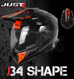 Casco Moto Off Road Just 1 – J34 Shape Neon Red
