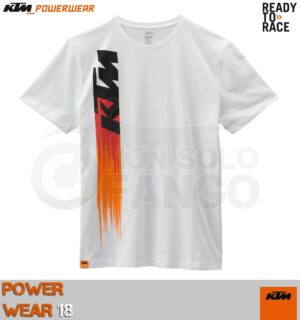 T-shirt KTM Power Wear 2018 Faded Tee White