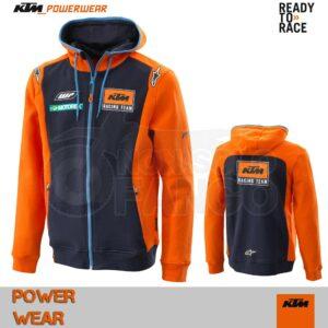 Felpa KTM Power Wear 18 Replica Team Zip Hoodie