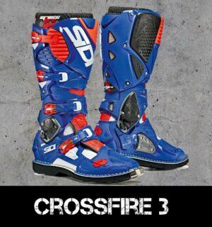 Stivali enduro Off-Road Sidi Crossfire 3 Bianco/Blu/Rosso Fluo