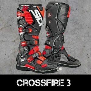 Stivali enduro Off-Road Sidi Crossfire 3 Rosso Fluo/Nero