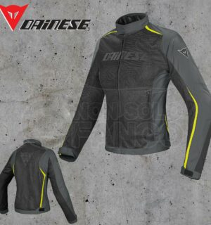 Giubbotto Dainese Hydra Flux D-Dry Lady Nero/Dark-Gull-Gray/Giallo-Fluo