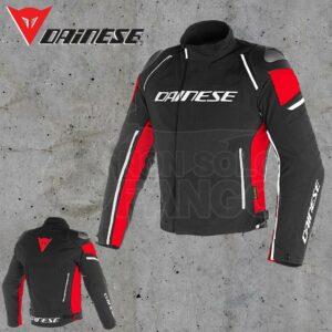 Giubbotto Dainese Racing 3 D-Dry Nero/Nero/Rosso